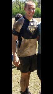 Chase Knight, rugby club president, after a 2014 match.
