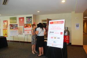 Entrance to the 33rd LAA career fair. Photo by Pablina Lopez