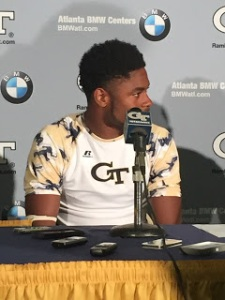 Qua Searcy after Georgia Tech win. Photo by Cameron Moyer