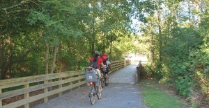 Visitors enjoy the nature trails and boardwalks that surround the Hooch and take bike rides to explore the essence of Mother Nature. Photo by Shawanda Holsey