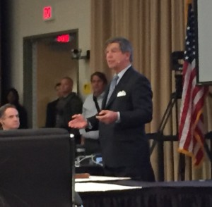 Kennesaw State President Daniel S. Papp speaking to the Board of Regents on Oct. 14, 2015. (Photo credit: Morgana Kennedy)