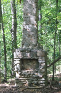 On the Forest and Homestead trails lie remnants of a 1940s homestead including a chimney and a gravesite. Photo by Daniel Rogers