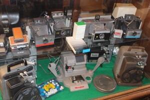 Various cameras that are on sale that have been bought, salvaged and collected in the 27 years since Antiques on the Square has been in existence. Photo by James White