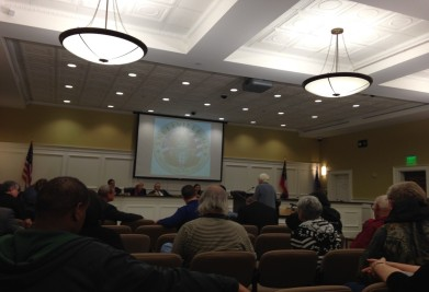 Ida Graham addresses Snellville City Council members during a meeting on Oct. 26 (Photo by: Katie Fischer)